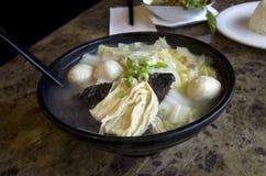 Minestra di pasta di riso asiatica Immagine Stock