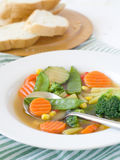 Minestra di verdura Fotografie Stock