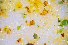 Minestra di verdura astratta nel fondo del piatto fotografie stock libere da diritti