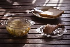 Minestra di verdura del pollo Fotografia Stock Libera da Diritti