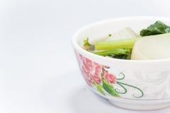 Minestra di verdura mista fresca calda Fotografie Stock