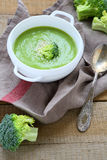 Minestra fragrante dei broccoli Fotografie Stock Libere da Diritti