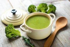 Minestra fresca del broccolo Immagini Stock