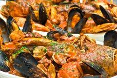 Minestra italiana dei frutti di mare Immagine Stock