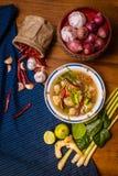 Minestra piccante del pesce Fotografie Stock Libere da Diritti