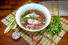 Minestra piccante del pesce Fotografia Stock