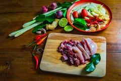 Minestra piccante del pollo di TomYam Fotografia Stock