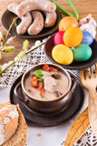 Minestra polacca di Pasqua con l'uovo Immagini Stock Libere da Diritti
