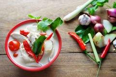 Minestra tailandese del latte di cocco di stile Immagine Stock
