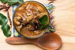 Minestra tailandese della gamba della carne di maiale Fotografia Stock