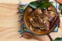 Minestra tailandese della gamba della carne di maiale Fotografie Stock Libere da Diritti
