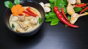 Minestra tailandese della noce di cocco del pollo - Tom Kha Gai Fotografie Stock Libere da Diritti