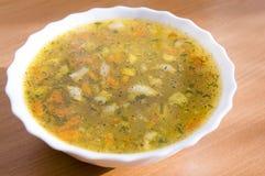 minestra in una zolla Fotografia Stock Libera da Diritti