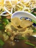 Minestra vietnamita di Pho BO del manzo con il tendine Fotografia Stock Libera da Diritti