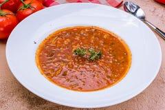 Minestrone φυτικής σούπας Στοκ Εικόνες