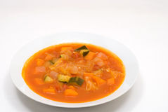 Minestrone. Is italian stew vegetable soup Royalty Free Stock Images