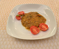 Minestrone avec des tomates Image libre de droits