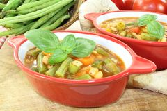 Minestrone with beans Royalty Free Stock Image