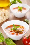 Minestrone - italian soup with veggies Stock Photos
