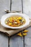 Minestrone, minestra di verdura fotografia stock libera da diritti