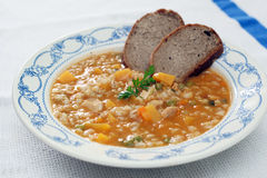 Minestrone plate Royalty Free Stock Image