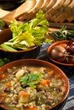 Minestrone - soep met groenten Stock Foto's