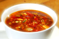 The minestrone soup Royalty Free Stock Photos