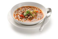 Minestrone soup. Homemade minestrone soup, italian cuisine Royalty Free Stock Image