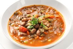Minestrone soup. Homemade minestrone soup, italian cuisine Stock Image