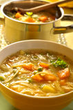 Minestrone Soup. Bowl of hot minestrone soup Stock Image