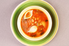 Minestrone soup. A bowl of minestrone soup Royalty Free Stock Images