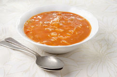 Minestrone soup in a bowl royalty free stock image