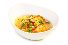 Minestrone soup isolated Royalty Free Stock Photos