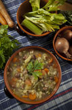 Minestrone - soup with vegetables. Italian cuisine Royalty Free Stock Photo