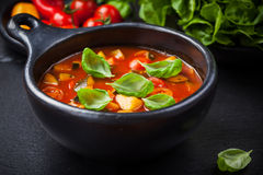 Minestrone soup with vegetables Royalty Free Stock Photography