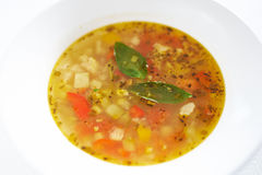 Minestrone soup Royalty Free Stock Photography