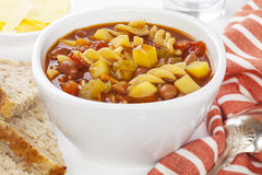 Minestrone-Suppe Stockbilder