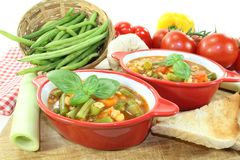 Minestrone with tomatoes Stock Photography