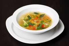 Minestrone vegetable soup Stock Photography
