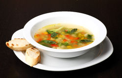 Minestrone vegetable soup Royalty Free Stock Photography