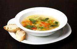 minestrone zup warzywnych Fotografia Royalty Free
