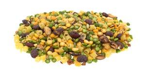Minestrone zupnej mieszanki porcja na białym tle Zdjęcie Royalty Free