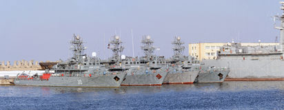 Minesweeper warships - Romanian Naval Forces Stock Photo