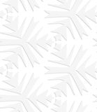 Minettes complexes pointues blanches de papier Photographie stock libre de droits