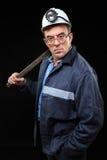 Mineur avec un marteau de forgeron Photos stock