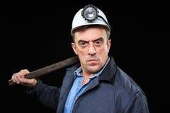 Mineur avec un marteau de forgeron Photos libres de droits