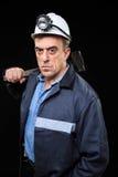 Mineur avec un marteau de forgeron Photo stock