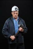 Mineur avec un marteau de forgeron Images libres de droits