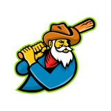 Mineur Baseball Player Mascot Illustration Libre de Droits