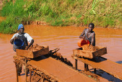 Mineur en Afrique Image stock